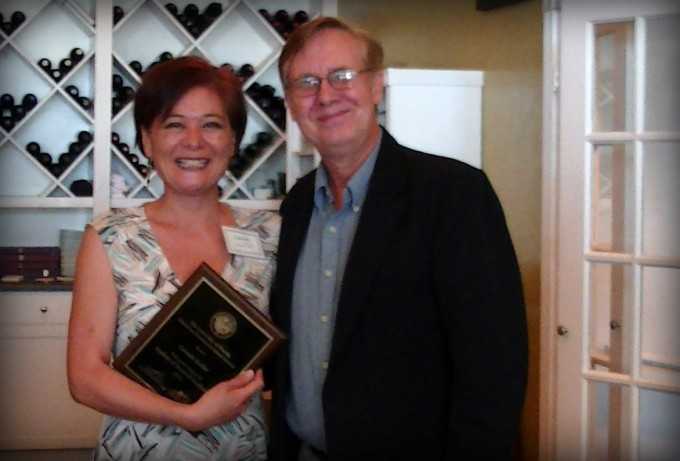 Dr. Kreider is pictured with Ray Moseley, PhD, from the CTSI.